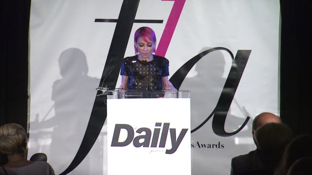 SPEECH Nicole Richie at The Daily Front Row Presents First Annual Fashion Los Angeles Awards in Los Angeles CA