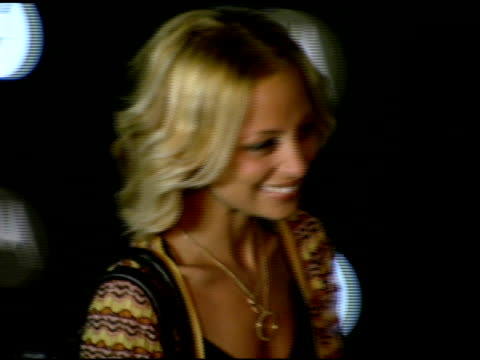 nicole richie at the motorola's seventh anniversary party to benefit toys for tots at american legion in hollywood, california on november 3, 2005. - nicole richie stock videos & royalty-free footage
