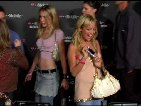nicole richie at the 't-mobile sidekick ii' launch party arrivals at the grove in los angeles, california on august 5, 2004. - nicole richie stock videos & royalty-free footage