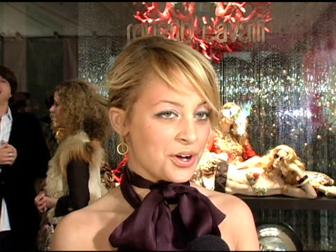 Nicole Richie at the Unveiling of Roberto Cavalli's Beverly Hills Location at Roberto Cavalli Boutique in Los Angeles California on February 15 2005