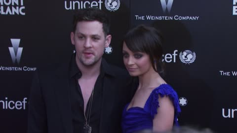 nicole richie , joel madden at the montblanc charity cocktail hosted by the weinstein company to benefit unicef at soho house at west hollywood ca. - nicole richie stock videos & royalty-free footage
