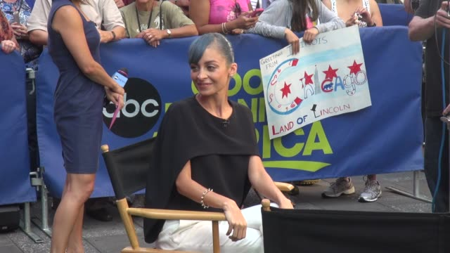 Nicole Richie on the outside set of the Good Morning America show in Times Square Celebrity Sightings in New York on July 07 2014 in New York City
