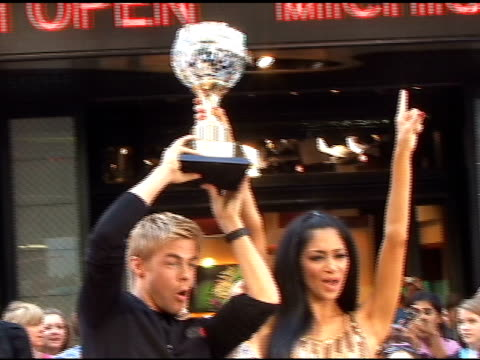 nicole scherzinger and derek hough at good morning america in new york at the celebrity sightings in new york at new york ny - nicole scherzinger stock videos and b-roll footage