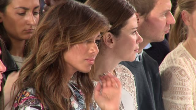 nicole scherzinger anna friel at temperley london ss15 london fashion week on 14th september 2014 in london england - nicole scherzinger stock videos and b-roll footage