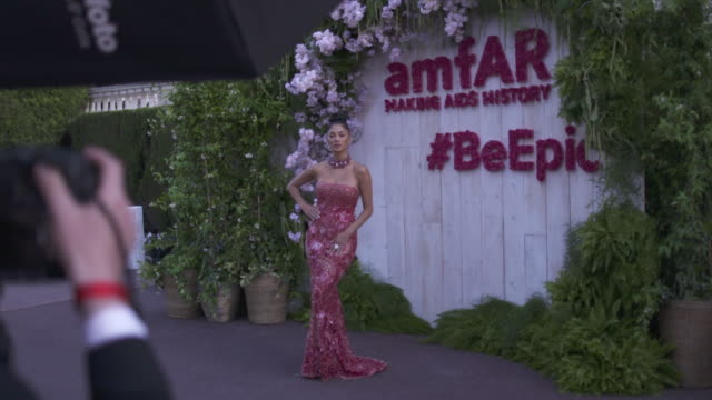 SLOMO Nicole Scherzinger at amfAR Gala Cannes 2018 at Hotel du CapEdenRoc on May 17 2018 in Cap d'Antibes France