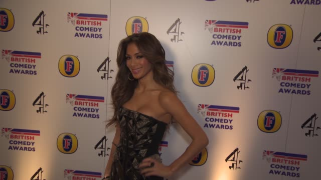 nicole scherzinger at british comedy awards at fountain studios on december 12 2013 in london england - nicole scherzinger stock videos and b-roll footage