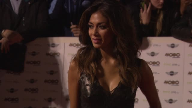 nicole scherzinger at mobo awards 2014 at wembley arena on october 22 2014 in london england - nicole scherzinger stock videos and b-roll footage