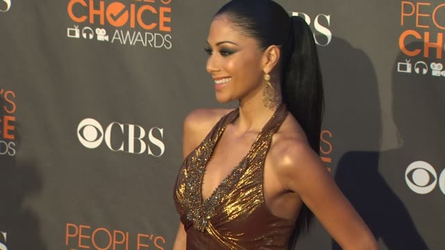 nicole scherzinger at the 36th annual people's choice awards at los angeles ca. - people's choice awards stock videos & royalty-free footage