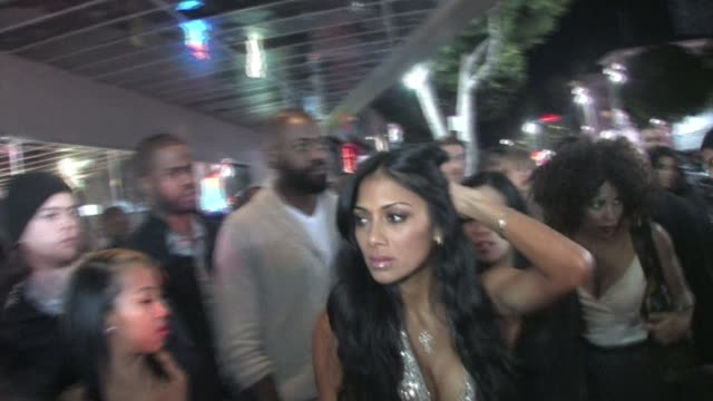 nicole scherzinger at the playhouse in hollywood 02/14/11 at the celebrity sightings in los angeles at los angeles ca - nicole scherzinger stock videos and b-roll footage