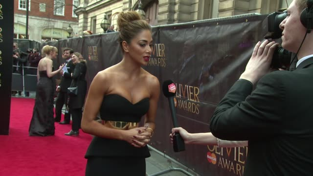 nicole scherzinger, gillian anderson, gemma arterton, eamonn holmes, ruth langsford at the laurence olivier awards with mastercard on 12th april 2015... - エイモン ホームズ点の映像素材/bロール