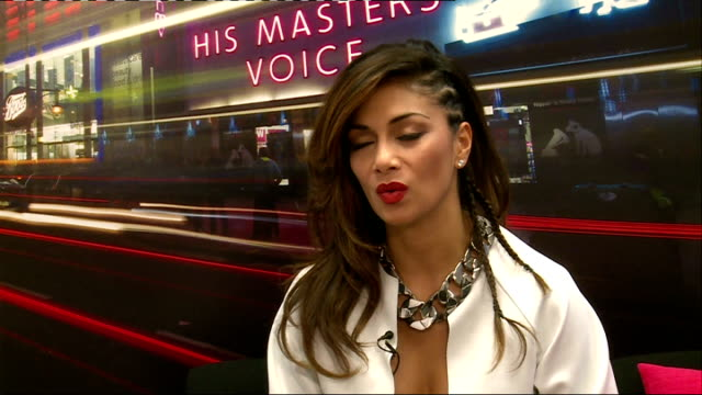 Nicole Scherzinger interview and album signing ENGLAND London HMV INT Nicole Scherzinger inteview SOT on being in London a lot / English phrases she...