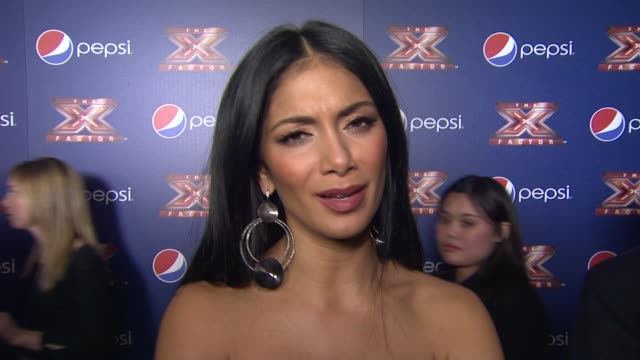 nicole scherzinger on what she thinks is special about this group of artists looking at the competition from an artist point of view the most... - nicole scherzinger stock videos and b-roll footage