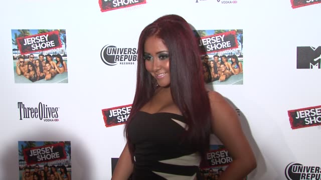 nicole 'snooki' polizzi at the 'jersey shore' soundtrack release party at new york ny - soundtrack stock videos & royalty-free footage