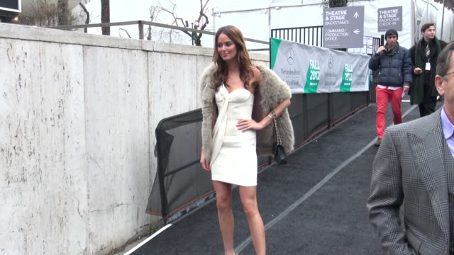 Nicole Trunfio at MercedesBenz Fashion Week in New York on 2/15/2012