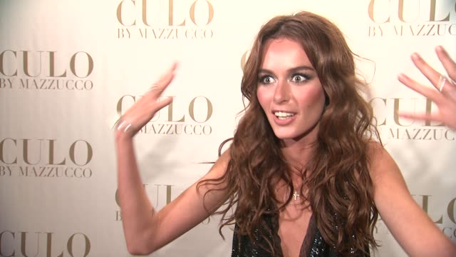 Nicole Trunfio on working with photographer Raphael Muzzucco at the 'CULO By Mazzucco' Launch at New York NY