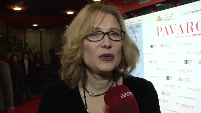 nicoletta mantovani attends 'pavarotti' photocall at hotel intercontinental in madrid - intercontinental hotels group stock videos & royalty-free footage