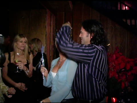 nicollette sheridan and mark kearney at the birthday bash for nicollette sheridan and chef mark kearney at bliss in los angeles, california on... - ニコレット シェリダン点の映像素材/bロール