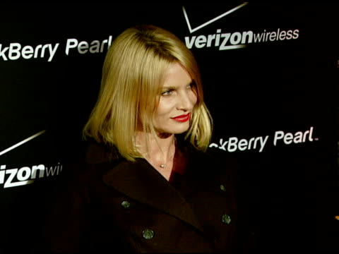 nicollette sheridan at the pink blackberry pearl smartphone launch party on january 31, 2008. - ニコレット シェリダン点の映像素材/bロール