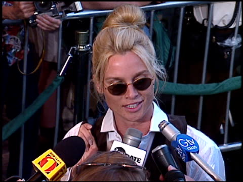 nicollette sheridan at the 'tin cup' premiere at the mann village theatre in westwood, california on august 1, 1996. - 1996 stock videos & royalty-free footage