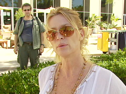 Nicollette Sheridan on how dogs and animals have always been a part of her life at the Dine With Your Dog Day at Hyatt Regency Century Plaza in...