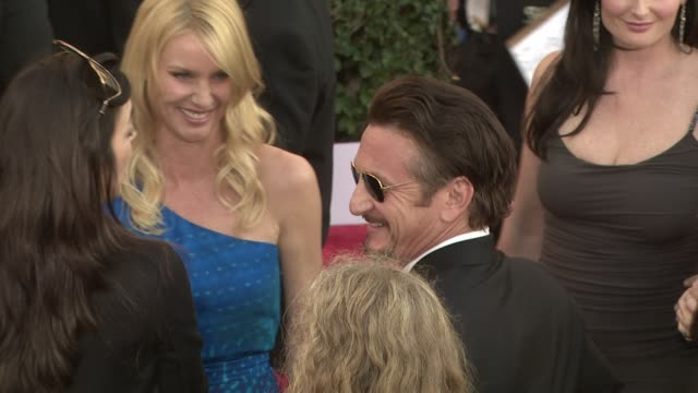 Nicollette Sheridan Sean Penn at the 15th Annual Screen Actors Guild Awards Part 3 at Los Angeles CA