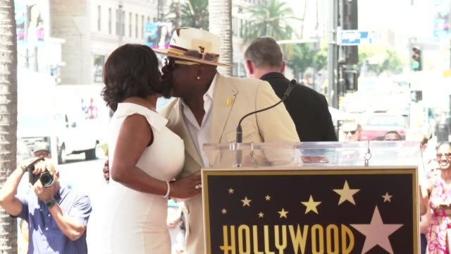niecy nash and cedric the entertainer at the niecy nash honored with a star on the hollywood walk of fame on july 11 2018 in hollywood california - walk of fame stock videos & royalty-free footage