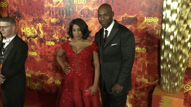 niecy nash and jay tucker at the 2015 hbo emmy after party at the plaza at the pacific design center on september 20, 2015 in los angeles, california. - tucker stock videos & royalty-free footage