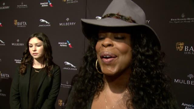 interview niecy nash on being at the event on what makes the bafta tea party one of the most prestigious events of the weekend and on getting ready... - tea party stock videos and b-roll footage