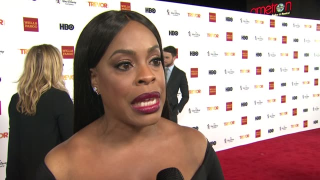interview niecy nash on how she got involved in the trevor project at trevorlive los angeles 2015 at hollywood palladium on december 06 2015 in los... - the trevor project stock videos and b-roll footage