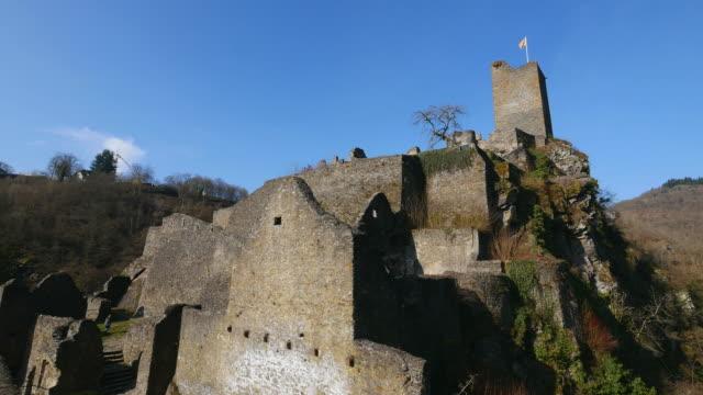 niederburg castle, manderscheid, eifel, rhineland-palatinate, germany - rhineland palatinate stock videos & royalty-free footage