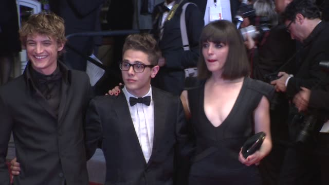 Niels Schneider Monia Chokri and Xavier Dolan at the Another Year Premiere Cannes 2010 Film Festival at Cannes