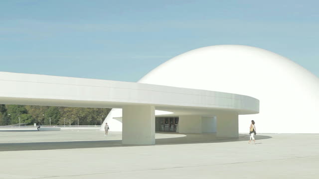 Niemeyer Centre Spain Pan shot right to left