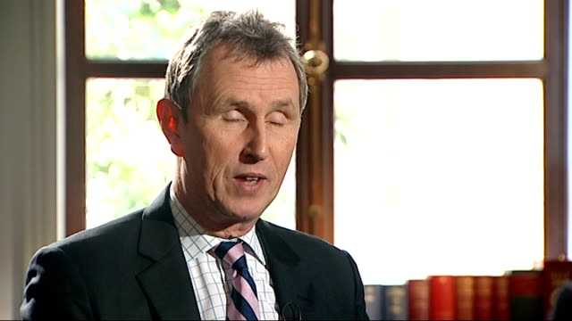 nigel evans interview after acquittal england london nigel evans mp interview sot on getting his life back / torrid 11 months / torment despair and... - after life stock videos & royalty-free footage