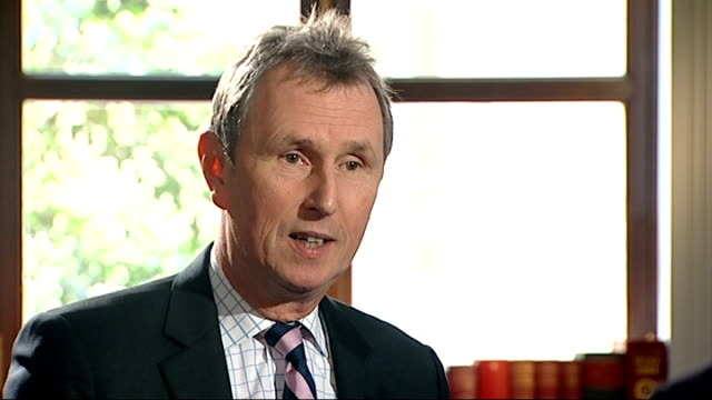 nigel evans interview after acquittal evans interview sot on the cps / doubt he has a case for malicious prosecution / don't want to go near a court... - 残酷点の映像素材/bロール