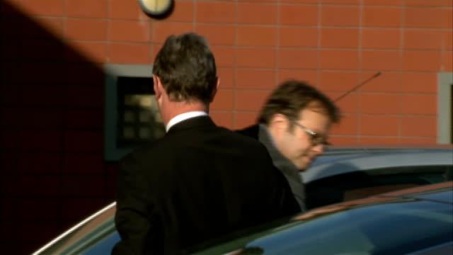 nigel evans resigns as deputy speaker after sex charges; england: lancashire: preston: ext nigel evans mp arriving at preston police station - ランカシャー点の映像素材/bロール