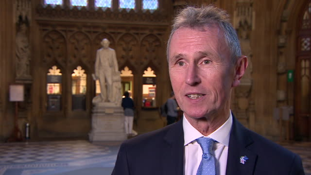 nigel evans saying theresa may's new brexit withdrawal bill is brexit in name only and something i most certainly will not be supporting - bill legislation stock videos & royalty-free footage