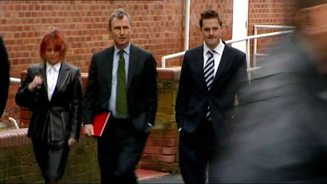 patrick mcloughlin gives evidence england lancashire preston ext nigel evans along with others as arriving at court - patrick mcloughlin stock videos and b-roll footage