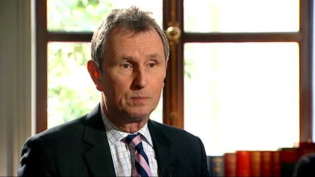 nigel evans talks of his acquittal of sexual assault charges london int nigel evans mp sot the argument is that if you have anonymity it stops other... - acquittal stock videos and b-roll footage