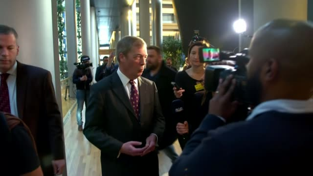nigel farage accused of serious breach of meps' code of conduct in leaked letter; lib / tx france: strasbourg: ext general view of european... - mep stock videos & royalty-free footage