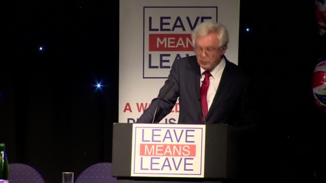 nigel farage and david davis speeches england greater manchester bolton int david davis mp speech sot - bolton greater manchester stock videos and b-roll footage