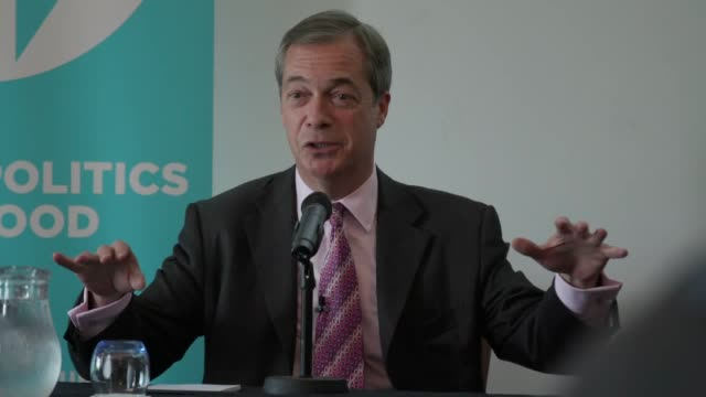 nigel farage calls for postal ballot shakeup after byelection 'voterigging rumours' and said it was appalling that an argument at boris johnson's... - nigel farage stock videos & royalty-free footage