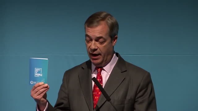 """nigel farage saying the brexit party wants to """"lead a political revolution that puts the ordinary people first"""" - urgency stock videos & royalty-free footage"""