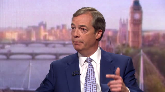 nigel farage saying the conservatives and labour have no prospect of delivering a cleanbreak brexit - nigel farage stock videos & royalty-free footage