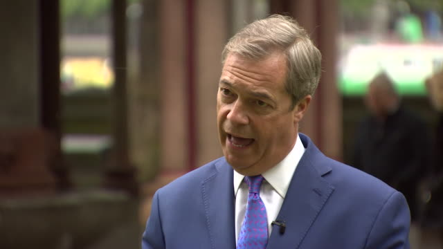 Nigel Farage saying 'we need UKIP to be there we need UKIP to be strong UKIP is the insurance policy in case Brexit doesn't get delivered'