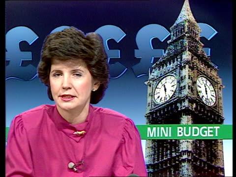 Nigel Lawson gives Autumn Statement b London Downing Street Sarah Hogg 1/c