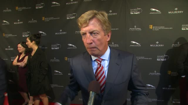 interview nigel lythgoe on being a part of the afternoon at bafta la 2014 awards season tea party at four seasons hotel los angeles at beverly hills... - bafta la tea party stock videos and b-roll footage