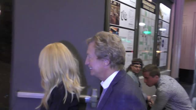 nigel lythgoe talks about christmas outside the pantages theatre in hollywood in celebrity sightings in los angeles, - パンテージスシアター点の映像素材/bロール