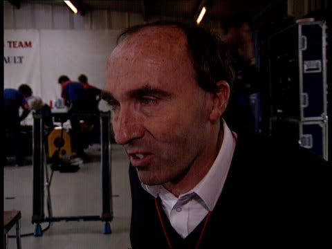 stockvideo's en b-roll-footage met nigel mansell; england: silverstone: int cms frank williams intvw sof - mansell is true racer and has good competitive spirit ext side mansell... - signeren
