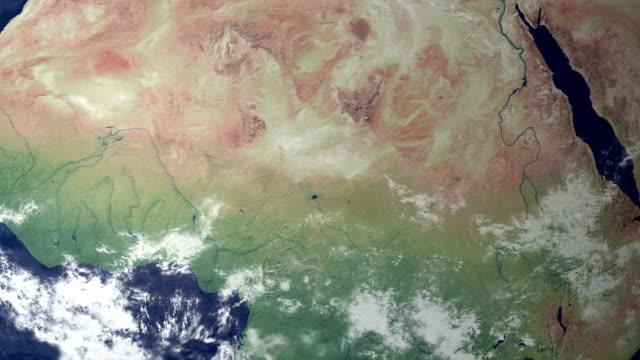 ニジェールが現れた後、大地をズーム(アルファマット) - ニジェール点の映像素材/bロール