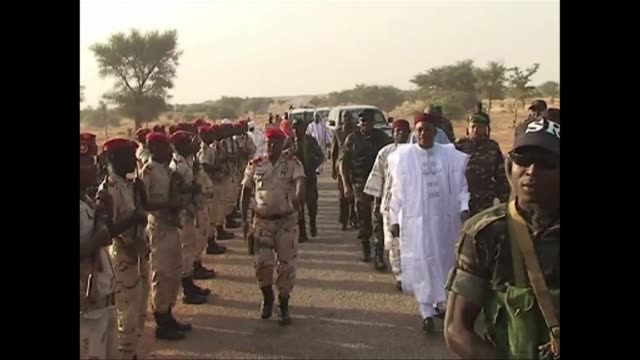 niger president mahamadou issoufou on tuesday paid a morale boosting visit to troops preparing for battle in the key islamist stronghold region of... - mahamadou issoufou stock videos and b-roll footage